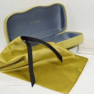 Accessories - NEW GUCCI Sunglasses Case - YELLOW